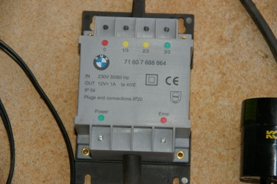 BMW Battery Charge Close Up