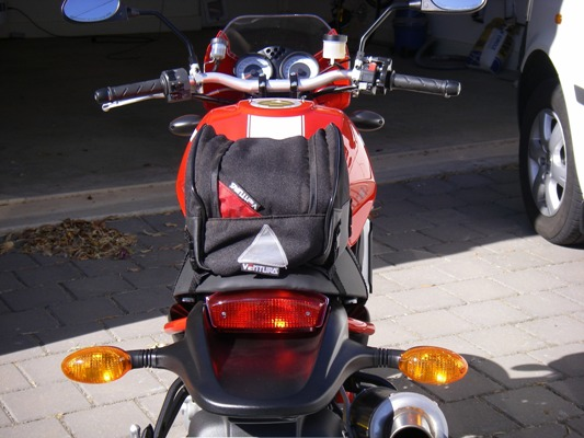 Ventura rear view on Ducati Monster